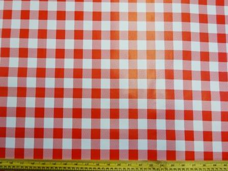PVC Tabling Fabric Red Gingham