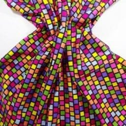 Cotton Fabric Hectic Squares