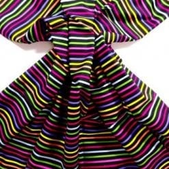 Cotton Fabric Hectic Stripes