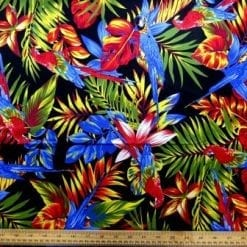 Cotton Fabric Polly Parrot