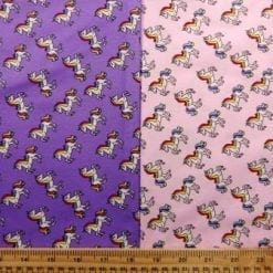 Cotton Print Baby Unicorns