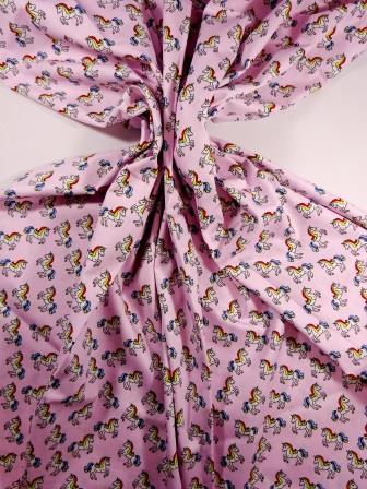 Cotton Print Baby Unicorns Pink