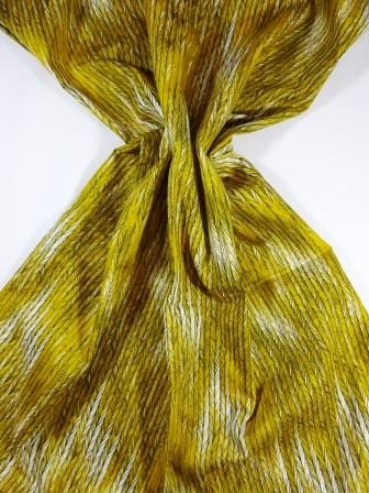 Cotton Fabric Bo Ho Herringbone Mustard