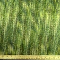 Cotton Fabric Bo Ho Herringbone Green