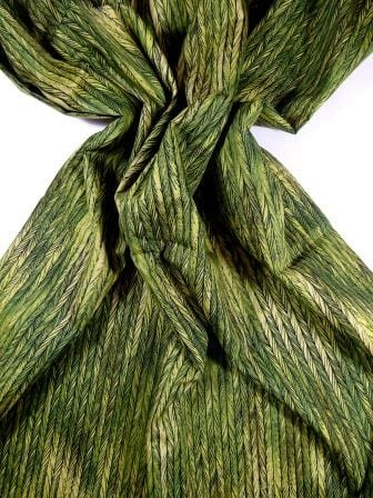 Cotton Fabric Bo Ho Herringbone Green