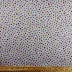 Cotton Fabric Baby Star Multi Grey