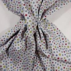 Cotton Fabric Baby Star Multi Grey