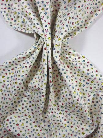 Cotton Fabric Baby Star Multi Cream