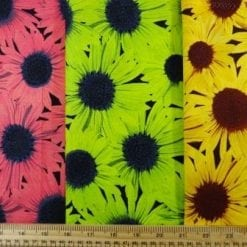 Cotton Fabric Sunflower Frenzy