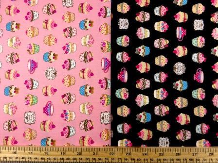 Cotton Fabric Print Mini Cup Cakes