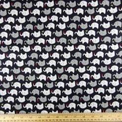 Cotton Fabric Print Nelly the Elephant