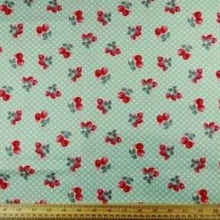 Cotton Printed Fabric Cherry Pop