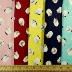 Cotton Fabric Print Suzy Sheep
