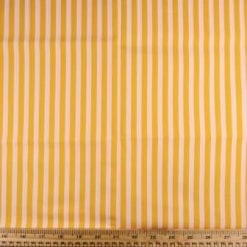 Cotton Fabric Striped yellow