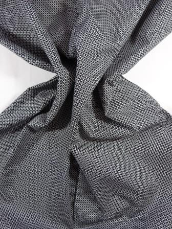 Cotton Fabric Print Monochrome Illusion Black