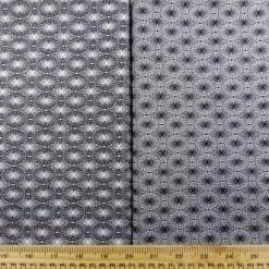 Cotton Fabric Print Monochrome Optical Lace