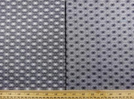 Cotton Fabric Print Monochrome Optical Lace