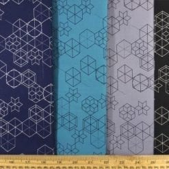 Cotton Fabric Print Geometric Shape Up