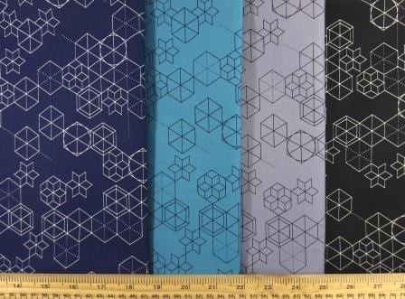 Cotton Fabric Print Geometric Shape Up