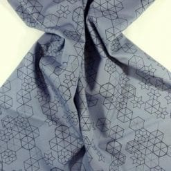 Cotton Fabric Print Geometric Shape Up grey