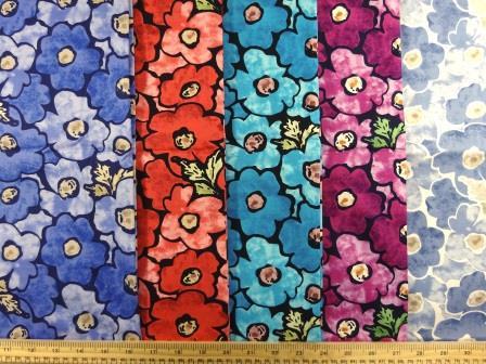 Cotton Fabric Print Pansy Daydream