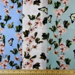 Cotton Fabric Apple Blossom