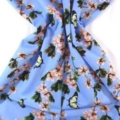 Cotton Fabric Apple Blossom blue