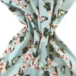 Cotton Fabric Apple Blossom sage
