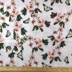 Cotton Fabric Apple Blossom cream