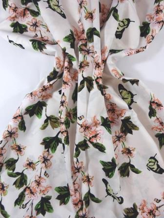 Cotton Fabric Apple Blossom cream