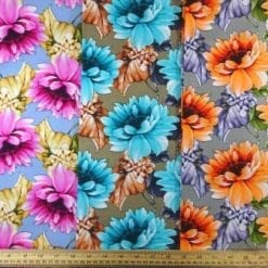 Cotton Fabric Caribbean Carnation