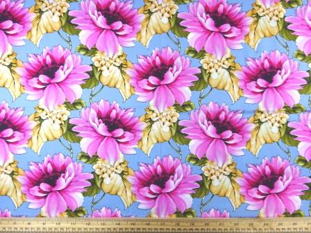 Cotton Fabric Caribbean Carnation pink