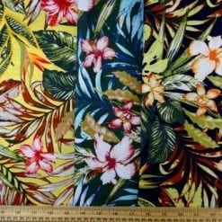 Cotton Fabric Bali Tropical Flower