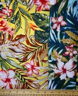 Cotton Fabric Bali Tropical Flower