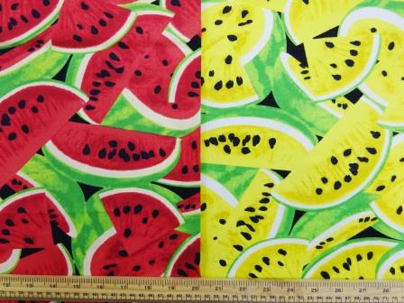 Watermelons Fruit Cotton Fabric