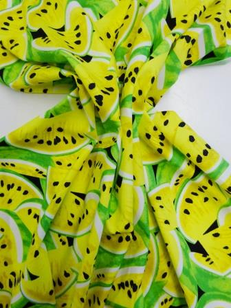 Watermelons Fruit Cotton Fabric yellow