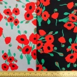 Cotton Fabric Poppy 100% Cotton