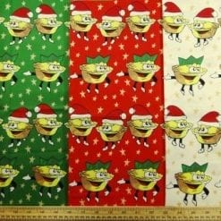 Cotton Christmas Fabric Mince Pies