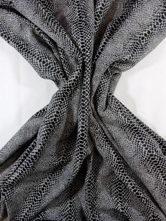 Jacquard fabric grey snake