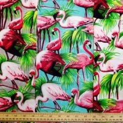Cotton Fabric Flamingos