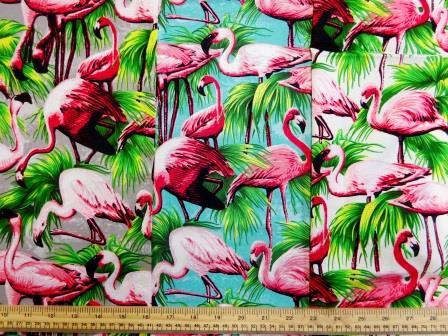 Cotton Fabric Flamingos