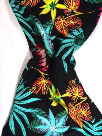 Viscose Fabric Maui Island black