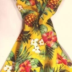 Viscose Fabric Pineapple Cocktail yellow