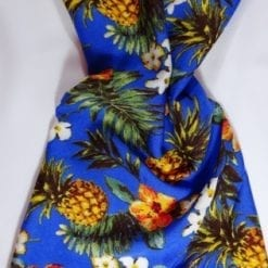 Viscose Fabric Pineapple Cocktail royal