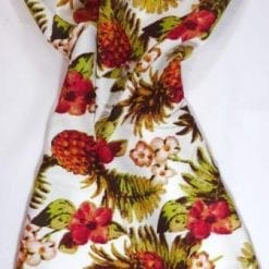 Viscose Fabric Pineapple Cocktail white