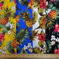 Viscose Fabric Pineapple Cocktail