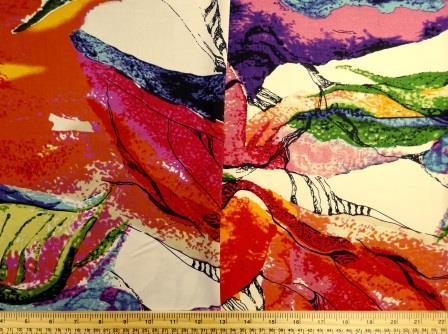 Viscose Fabric Modern Art