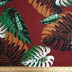 Viscose Fabric Club Tropicana chestnut