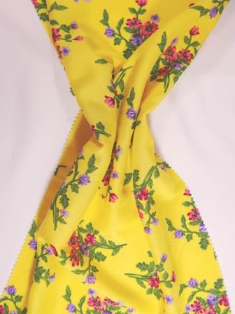 Viscose Fabric Flower Posie yellow