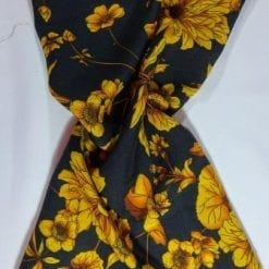 Viscose Fabric Anemone Floral black